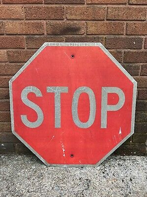 American Genuine USA Highway Large STOP Reflective Road Junction Sign