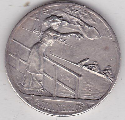 Lustrum Boat Race Silver Medal From France In Good Very Fine Condition