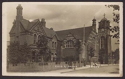 Birmingham. Bournville. Club & Baths. 1909 Postmarked Real Photo Postcard