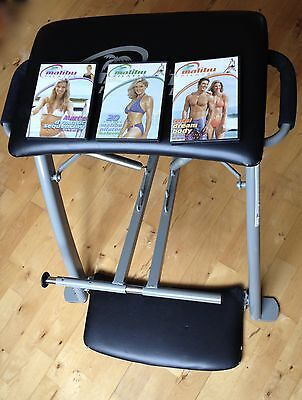 Malibu Pilates Chair and 3 DVDs COLLECTION ONLY