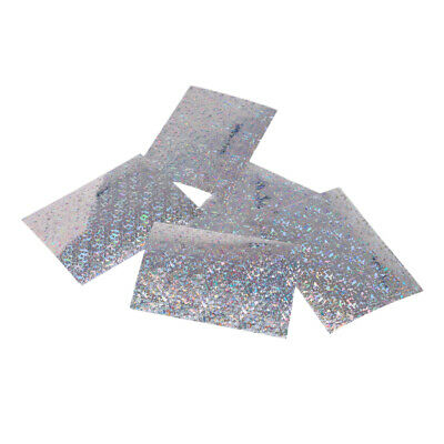 5pcs Flasher/Dodger/Lure Holographic Laser Prism Fishing Lure Tape Silver