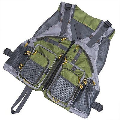 Fly Fishing Vest Backpack Adjustable Size Maxcatch Jacket Pack Multi Pockets AU