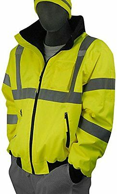 Majestic Glove 75-1300 PU Coated Polyester High Visibility Bomber Jacket #12N