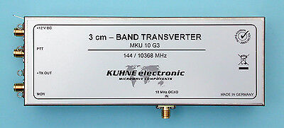 3CM Transverter, 10 GHz, IF 144 MHz, DB6NT, MKU 10 G3, Kuhne electronic