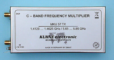 MKU XN 57 TX Frequency Multiplier, DB6NT 1410...1462 MHz In, 5650...5850 MHz Out