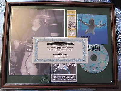 Nirvana Nevermind world tour limited edition framed memorabilia
