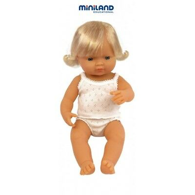 Miniland Educational Baby Doll Caucasian Girl 38 cm suitable for therapy