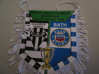Fanion Wimpel Pennant Finale Coupe Europe 1998 Rugby Bath / Brive