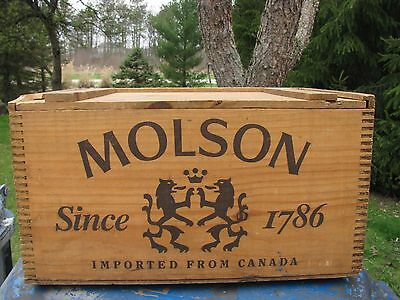 Vintage Collectible Molson  Wood Beer Case Crate Box Canada Uncommon