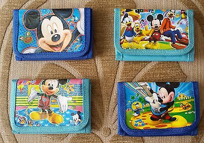 New MICKEY MOUSE CHARACTERS Tri Fold Wallet Purse GIFT 4 Designs Free UK Postage