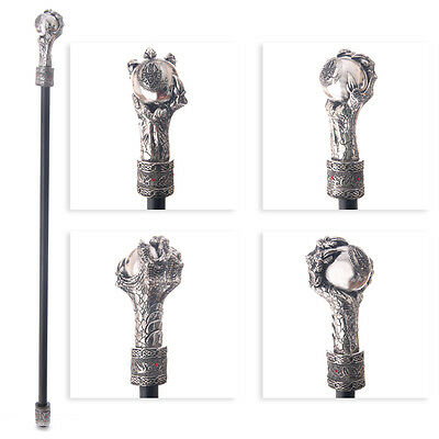 walking cane-swagger stick-walking stick-dragon claw celtic knot design
