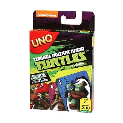 Teenage Mutant Ninja Turtles Uno Game From Mattel With 4 Bonus Tmnt Cards Cjm71