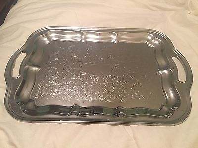 Vintage Irvinware Chrome Plated Serving Tray/Platter/Dish 1971