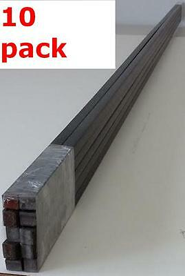 "Metal 5/16"" Solid Square Bars Hot Rolled Mild Steel Wrought Iron Fabrication Rod"