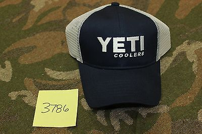 Yeti Coolers Navy Blue Traditional Trucker Cap Hat #3786