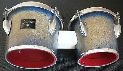 VINTAGE c1960's BONGOS. SPARKLE BLUE / SILVER. UK DISPATCH