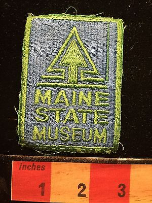 MAINE STATE MUSEUM ~ Official State Of Maine Government Museum Patch 67A2