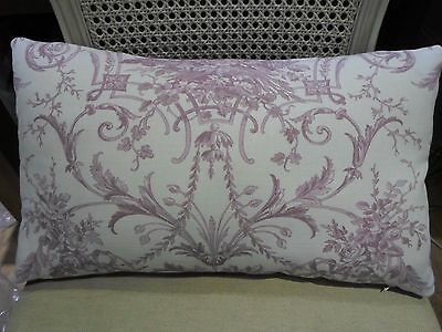 20 X 12 Cushion Cover in Laura Ashley TUILERIES Toile GRAPE Bacall BOLSTER