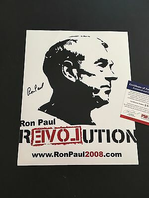 Ron Paul Signed 8x10 Photo PSA DNA Congressman Presidential Candidate Autograph
