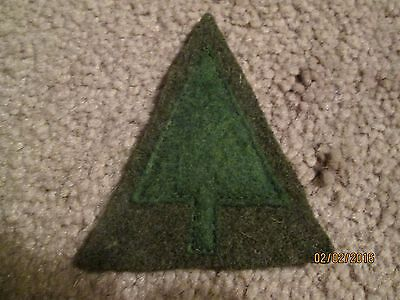 "WWI US Army patch 91st Infantry Division Patch ""Pine Tree"" AEF"