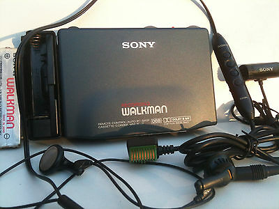 Sony WM-R707 Walkman Cassette-Corder/Player Kassettenspieler Recorder remote Mic