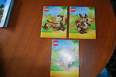 Lego Instruction Booklet 31019 Creator  Forest Animals