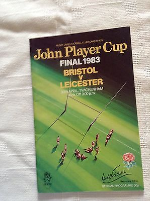 rugby union programme bristol v leicester 30th april 1983
