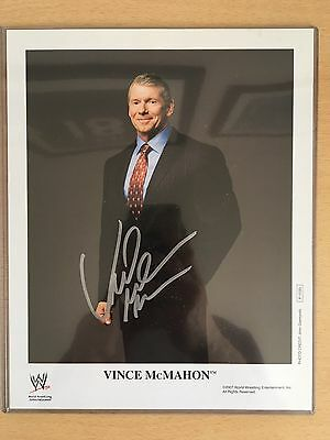 WWE Signed Vince McMahon 8x10