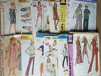 13 x 60s 70s Women Child Vintage Sewing Pattern Lot 26