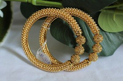 Ethnic Indian Traditional Pair Of Bangles Kada Bollywood Jewellery  2*6 - 150