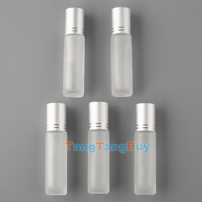 10ML Frosted/Blue Glass Roll On Essential Oils Perfume Bottles Roller Ball 10/20