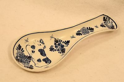 DELFT Blue Holland hand painted SPOON REST with Cow DAIC