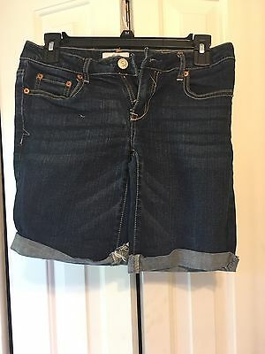 Aeropostale Dark Wash Denim Jeans Shorts Junior 5/6