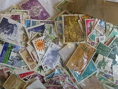 1000 (Approximately) Unsorted India Stamps Off Paper, exactly as Donated