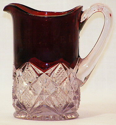 Annandale, P. E. I. Canada souvenir Ruby Diamond cream Ruby stained 1910-1920