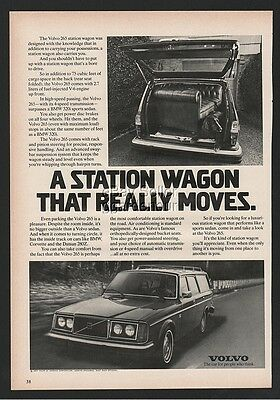 1977 Volvo 265 station wagon that really moves Irish Setter Dog Print Ad car
