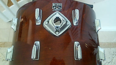 "Tama Superstar 80's Bass Drum 22""x14"" Mahogany."