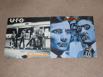UFO - OBSESSION & NO PLACE TO RUN - 2 x LP ALBUM VINYL RECORDS - PHIL MOGG.