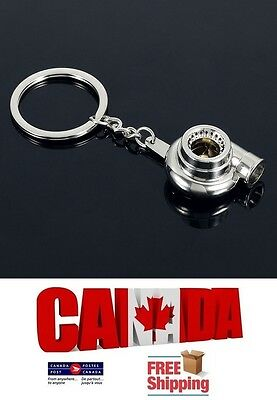 New Metal Auto Car Turbo Keychain Turbine BOV Key Chain Ring Keyfob