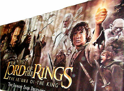 2003 LOTR: RETURN OF THE KING Orig. Vinyl Movie Theater Horiz Banner 118x60 (27)