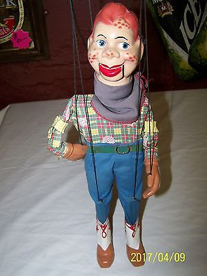 "Vintage 1950's Howdy Doody Marionette 16""  Peter Puppet Playthings"