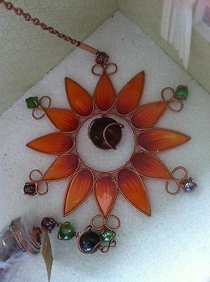 Stained Glass Effect Acrylic Sun Catcher & Wind Chime ... Sun Flower
