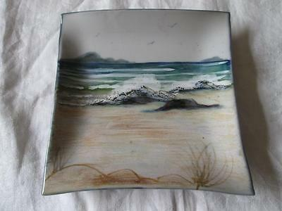 Stunning One-Off Seascape Piece Of Highland Stoneware (Signed)