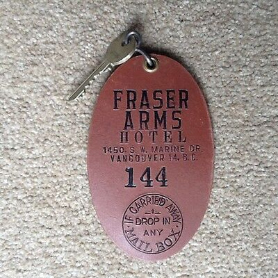 Fraser Arms Hotel Vancouver Canada Hotel Key and fob Room 144
