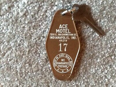 Ace Motel Indianapolis Indiana Hotel key and fob Room 17