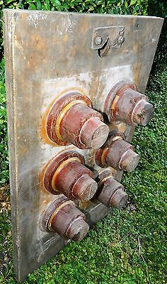"Antique Wood Industrial Foundry Pattern Mold  26"" Steampunk Printing Press Part"