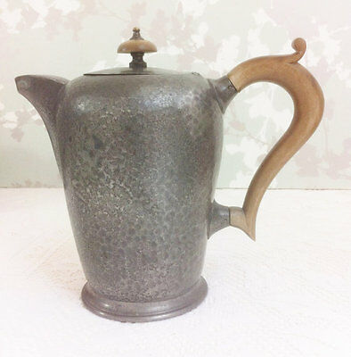 Dome Topped Pewter Coffee Pot, T W & Co. Pewter