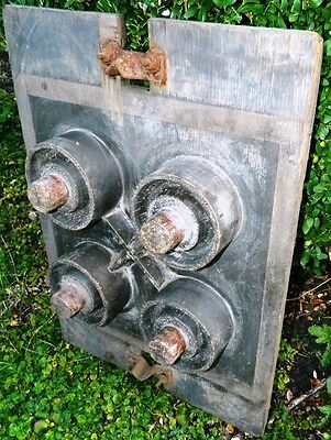 "Antique Wood Industrial Foundry Pattern Mold  23"" Steampunk Printing Press Part"