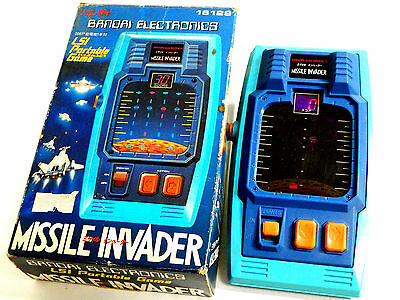 80s Retro Bandai FL LSI Tabletop Game Missile Invader Boxed MIJ Great Condition