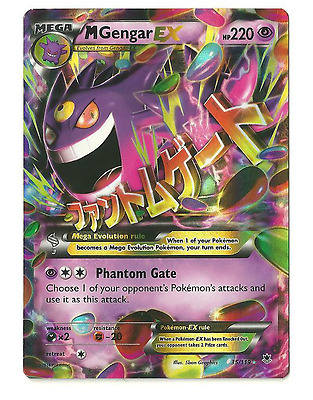 Pokemon Card - M Mega Gengar EX - XY Phantom Forces 35/119 - Rare Holo